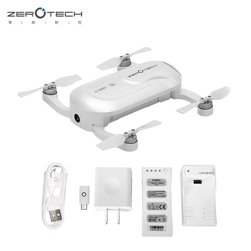 Original Zerotech Dobby Pocketable Selfie Drone FPV With 4K HD Camera GPS Smart Solution RC Quadcopter APP Control drohne genuine original xiaomi mi drone 4k version hd camera app rc fpv quadcopter camera drone spare parts main body accessories accs