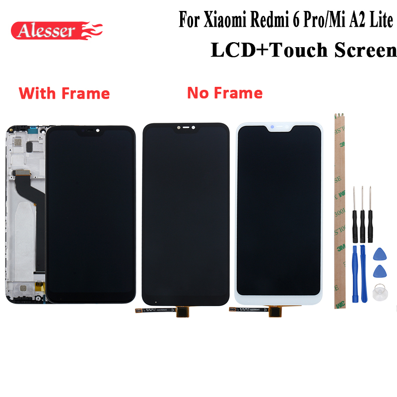 Alesser For Xiaomi Redmi 6 Pro LCD Display Mi A2 Lite Touch Screen With Frame Repair Parts For Xiaomi Redmi 6 Pro With ToolsAlesser For Xiaomi Redmi 6 Pro LCD Display Mi A2 Lite Touch Screen With Frame Repair Parts For Xiaomi Redmi 6 Pro With Tools