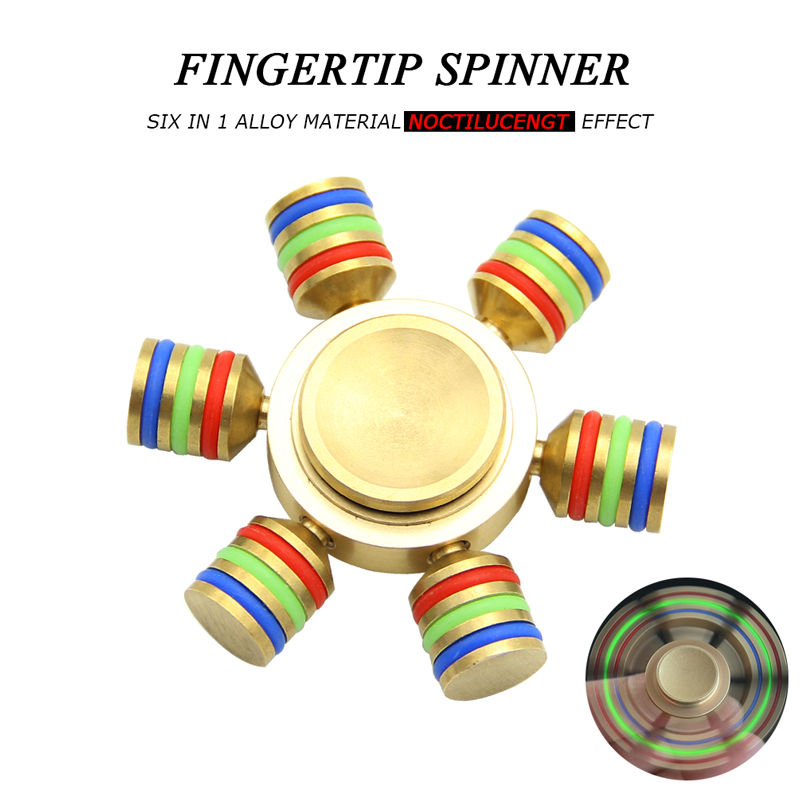 High Quality Alloy Fidget Spinner Noctilucent Hand Spinners Detachable Professional Tri-Spinner Fidgets Stress Toys Brinquedos!!