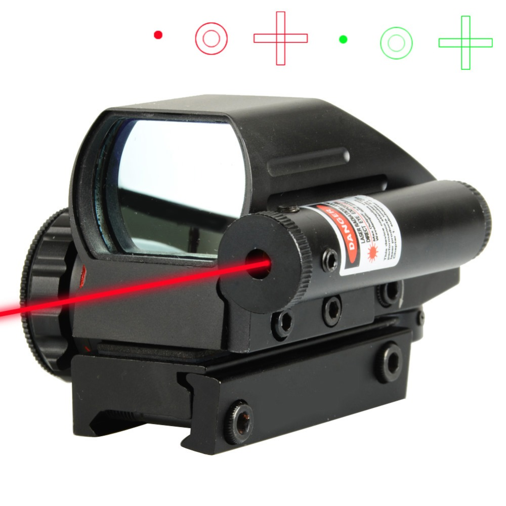 Hunting Optics 81x65x53mm Compact Reflex Red Green Dot Sight Riflescope Reticle Sight with 20mm Mount T28 hunting sports riflescope optics holographic green red dot reflex sight with 4 various reticle 20mm rails mount