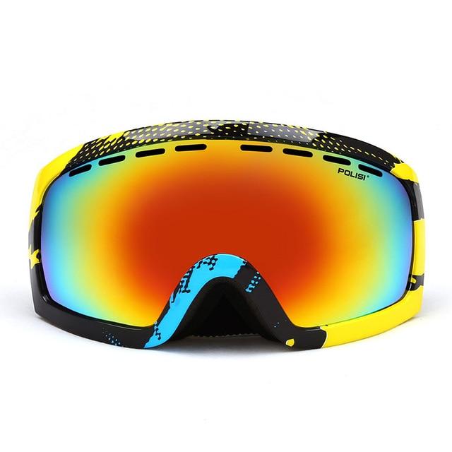 10f3b2c849b5 J18 Brand Polaroid Ski Goggles Anti UV Skate Snowboard Glasses Mask  Climbing Fast Moto Bike Riding