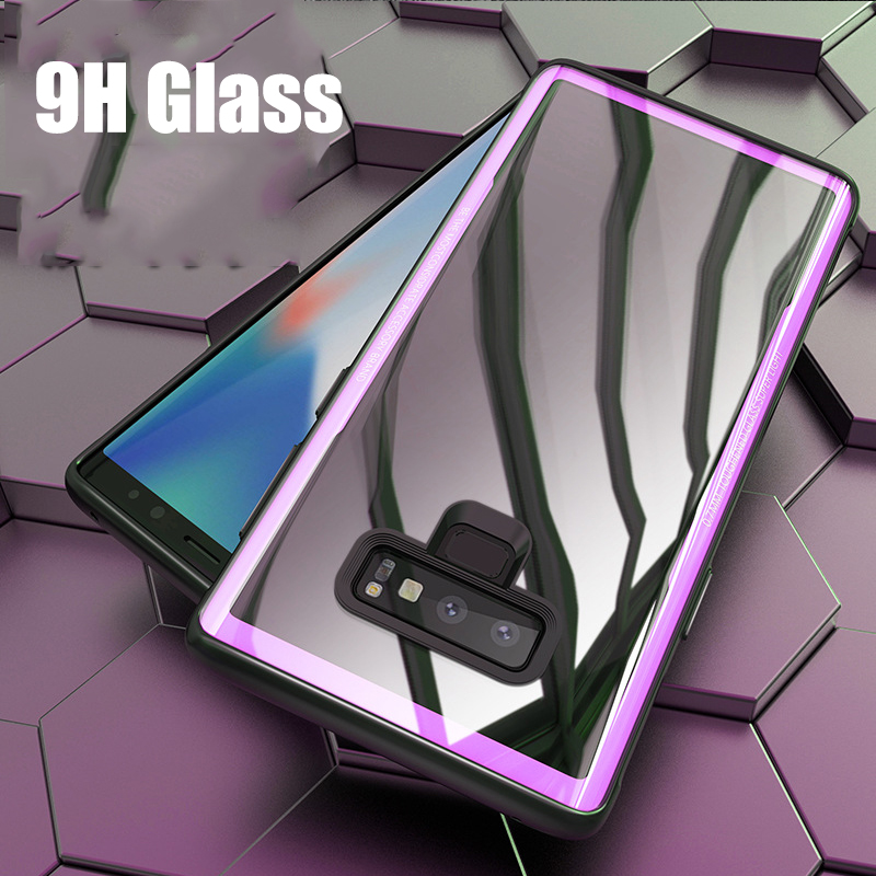 Luxury Transparent Glass Phone Case For Samsung Galaxy Note 9 Soft TPU Edge Tempered Glass Cases For Samsung Note 9 Note9 Coques (4)