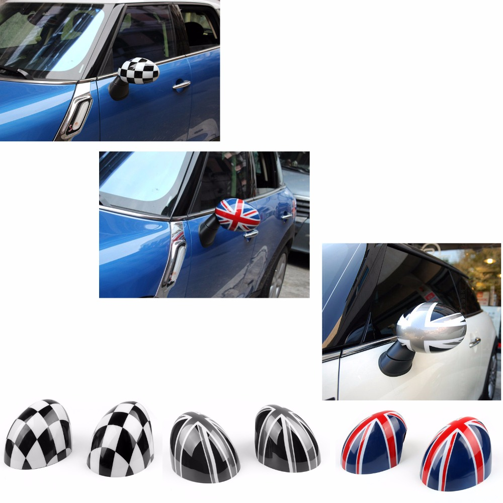 Areyourshop Car Rearview Side Mirror Cover Cap for MINI Cooper R55 R56 R57 Power Fold Mirror Car Styling oem chhsm01