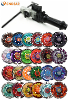 (Send randomly 8 spin top +1 launcher) Beyblade Metal Fusion 4D Launcher 24 Different Styles Fury Brinquedo Christmas