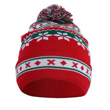 1 piezas hombres y mujeres caliente punto Pompom Cap Snowflake Baggy Beanie  invierno sombrero esquí Slouchy Cap Navidad Ropa Acc.. ab30c616b14