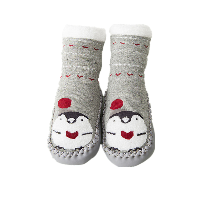 kidadndy Baby Autumn and Winter Non-Slip First Walkers Shoes with Rubber Soles Indoor Floor Socks Shoes GXY255
