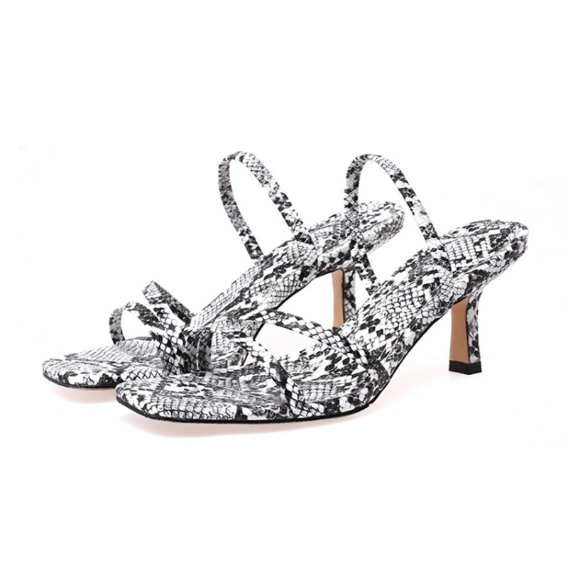 33-43 High Heel Sandals Women Large Size Fashion Slip-on 2019 Summer Sandals High Quality Snake Style33-43 High Heel Sandals Women Large Size Fashion Slip-on 2019 Summer Sandals High Quality Snake Style