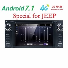 Android7.1quadcore dvd-плеер автомобиля для Jeep Grand Wrangler 2015 Patriot Compass путешествие GPS Navi Радио 4 Gwifi SWC DVR RDS dvbt BT