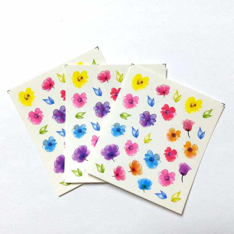 3pcs DIY Manicure Slider Embossed Nail Sticker Feathe Adhesive Nail Art Tips Decorations Decals B01