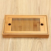 27x13 7cm Tea Set Water Storage Small Bamboo Kongfu Tea Table Serving Tray Chinese Wooden Tea