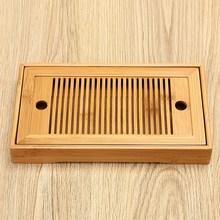27×13.7 cm Juego de Té de Agua de Almacenamiento de Bambú Mesa de Té Bandeja De Té De Madera Bandeja de La Porción Chino Kongfu Tradicional Teaware Home Regalo
