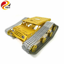 DOIT MY100 All Metal Tank Chassis Robot Chassis RC Tank Model Tracked Car with DC 9V motor+Metal Tracks+Aluminum Alloy Chassis