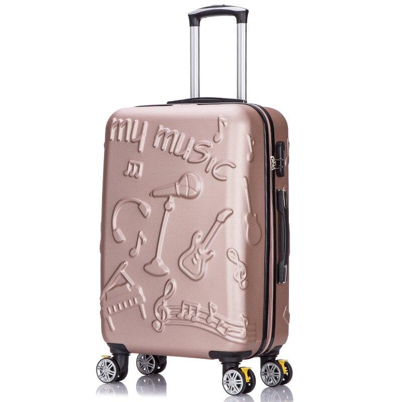 90FUN PC Koffer Kleurrijke Carry op Spinner Wielen Rolling Bagage TSA lock Business Travel Vakantie voor Vrouwen mannen - 4