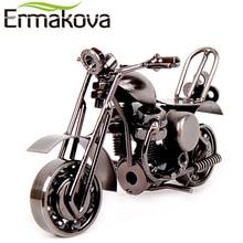 "ERMAKOVA 14cm(5.5"")Vintage Motorcycle Model Retro Motor Figurine Iron Motorbike Prop Handmade Boy Gift Kid Toy Home Office Decor"