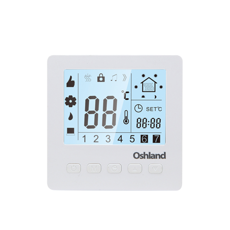 Free Shipping White Color 16A Floor Heating Thermostat Weekly Programmable LCD Digital Temperature Controller For HVAC Systems