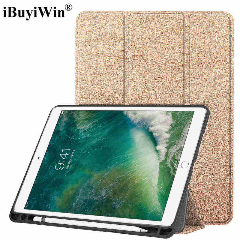 Magnetic Smart PU Leather Case for iPad Pro 10.5 Tablet Silicone Funda Cover With Auto Sleep/Wake UP With Pencil Holder+Film