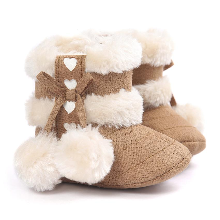 cd456031478f Detail Feedback Questions about Cotton Baby Girl Shoes Cute Bowknot Puffer  Ball Baby Soft Sole Snow Boots Plus Velvet Crib Shoes Sapatos Feminino   1104 on ...