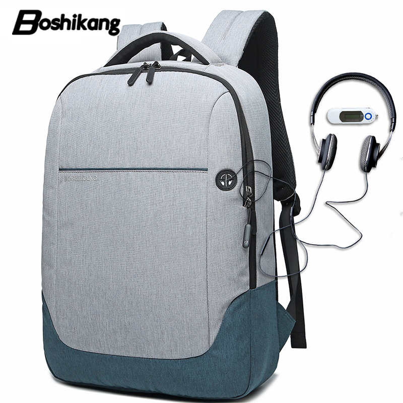 Boshikang Men School Bag Backpack Trend Student Fashion Travel Bag New Brand School Bag Boy Laptop bag new style school bags for boys