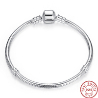 Authentic 100% 925 Sterling Silver 3mm Snake women / men Chain Bangle & Bracelet Jewelry 17cm 20CM,925 silver bracelet for men