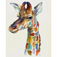 Frameless Zebra Giraffe Pictures Frameless DIY Painting By Numbers Animals Handpainted Oil Painting Unique Gift For