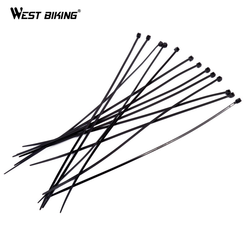 west biking 400pcs  pack 3 200mm self locking nylon zip tie