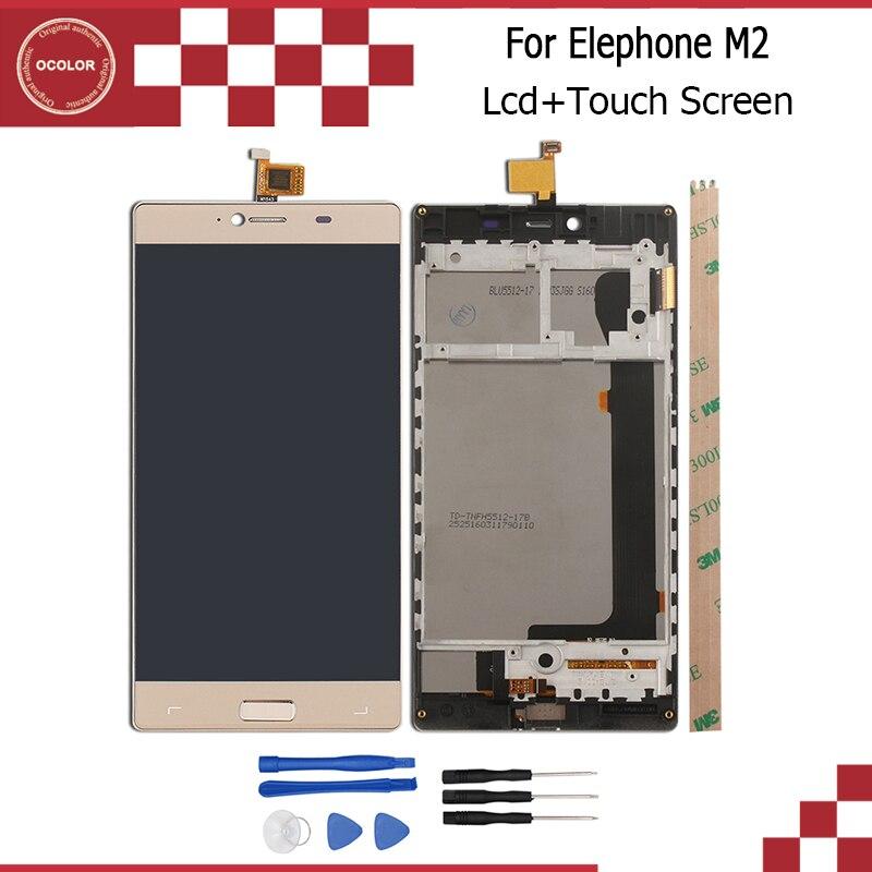 imágenes para Para Elephone M2 MTK6753 Octa Core 5.5 ''de Pantalla LCD Display + Touch Screen + Frame Asamblea Del Digitizador Pieza de Reparación + Tool + Adhesivo