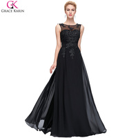 Grace Karin Real Photo Black Royal Blue Formal Evening Dresses Long 2016 Purple Red Gown Prom