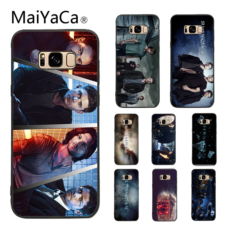 low priced 23477 08ec9 Supernatural Soft Rubber Black Phone Case Cover Shell For Samsung Galaxy S8  Plus S9 Plus