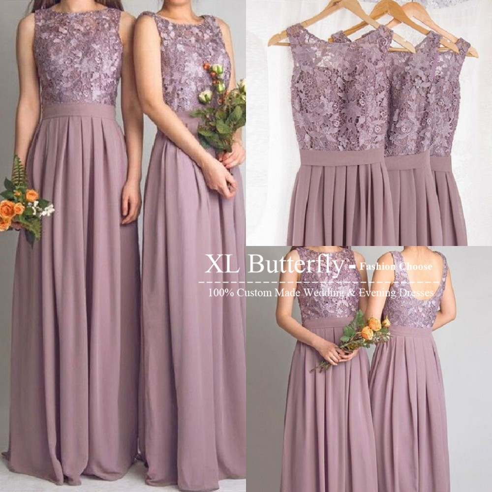 Dramatic Vintage Lavender Lace Bridesmaid Dress 2015 Sexy ...