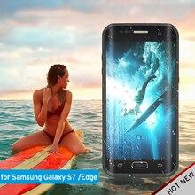 IP68 Водонепроницаемый чехол для Samsung Galaxy S7/edge Ultra Slim Обложка для S7 S6 Edge Plus вода/грязь /Дайвинг Подводные ПК ТПУ Armure