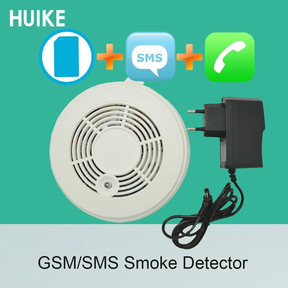 1 PCS Fire Control Alarm Detector GSM SMS Smoke Sensor Alarm Home security Protection Call number
