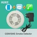 Детектор охранной сигнализации GSM SMS  1 шт.  датчик дыма  сигнализация для домашней безопасности  детектор номера вызова  включает батарею 9 в