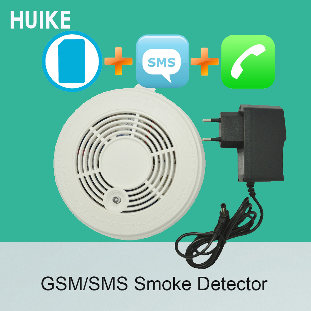 1 PCS Fire Control Alarm Detector GSM SMS Smoke Sensor Alarm Home Security Protection Call Number Detector Include 9V Battery