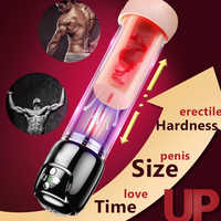 Sexy Masturbation Cool Adult Toys Pussy Pump Sex Shop Penis Enlargement Vacuum Pump Vibrator Sex Toys for Men Artificial Vagina