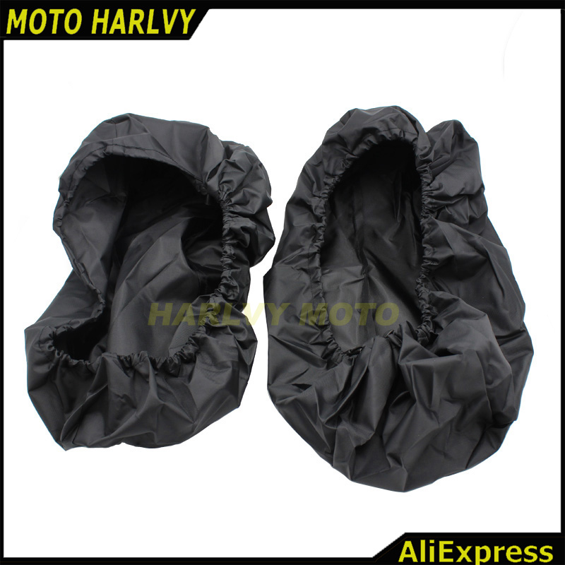 One Pairs Black Waterproof Lid Covers Audio Speaker Lid For Harley Touring Saddlebag