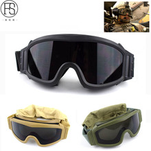 Hot Tactical Goggles Military Airsoft Protection Glasses Army Shooting Glasses For Motorcycle Windproof Wargame Goggles 3
