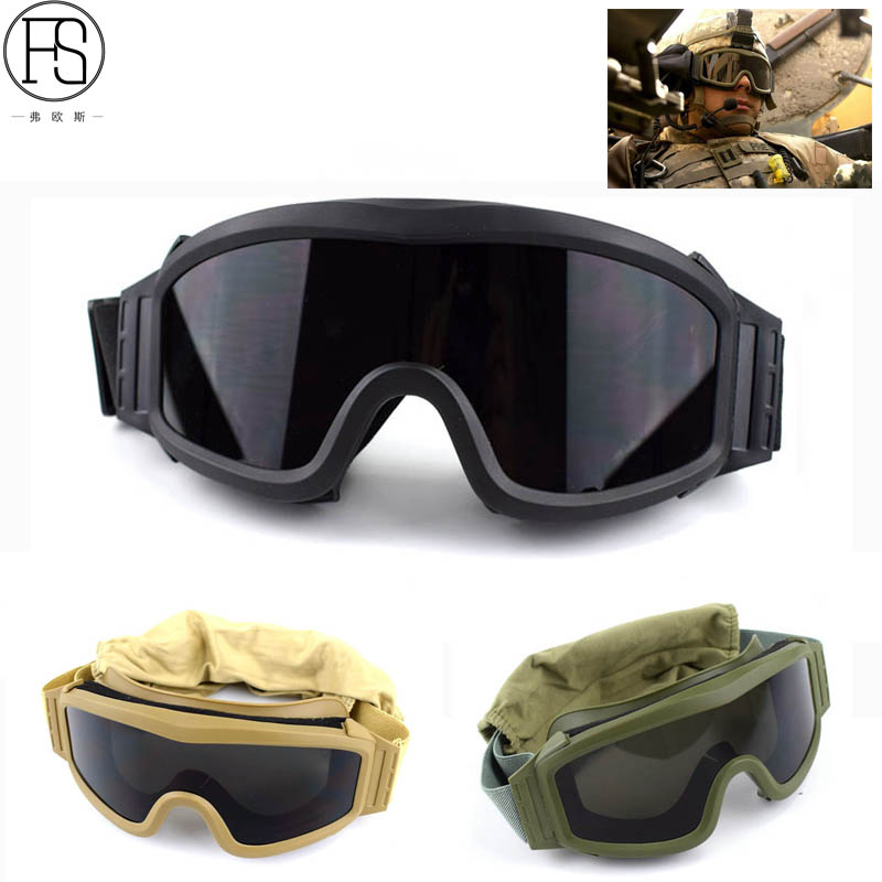 Hot Tactical font b Goggles b font Military Airsoft Protection Glasses Army Shooting Glasses For font