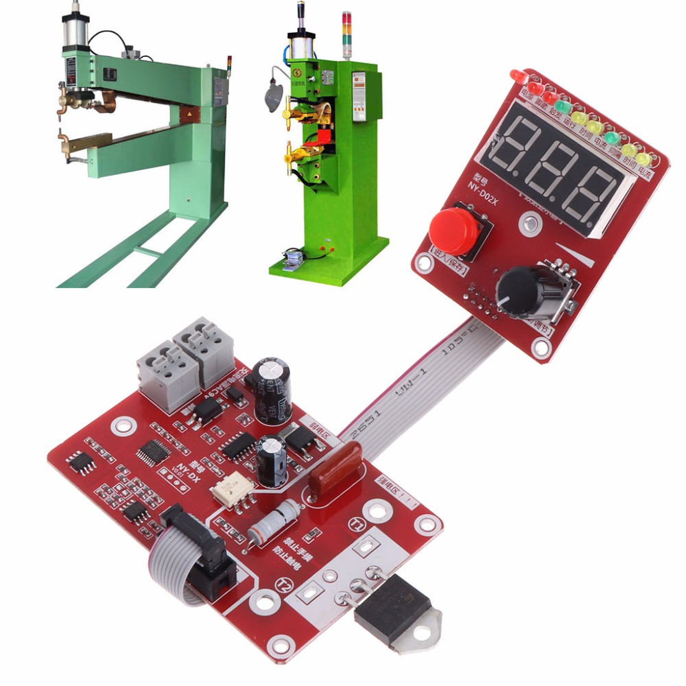Lower Price with Double Pulse Spot Welding Machine Encoder Time Digit Module Control Panel Plate Adjustable Current Controller 40a
