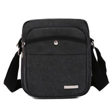 Mode Mannen Messenger Bag Busines Formele Crossbody Schoudertassen Korte Canvas Grote Capaciteit Verstelbare Band Draagbare Tote # I(China)