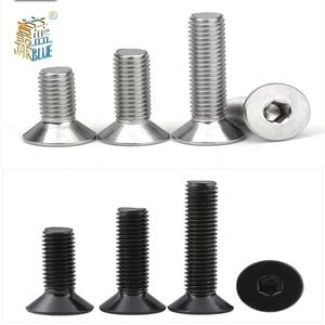 5-50pcs Allen Key Head Din7991 M2 M2.5 M3 M4 M5 M6 Stainless Steel 304 Or Black Hex Socket Flat Countersunk Head Screw(China)
