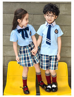 British kindergarten clothing summer dress 2019 new primary school class clothes boys and girls sports performance clothing coll