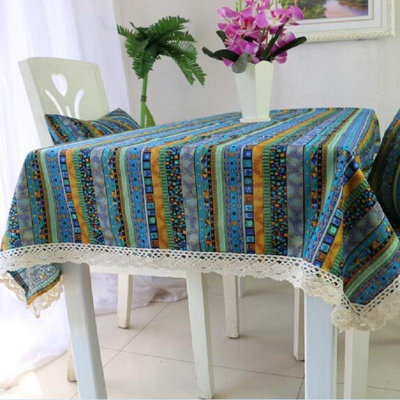 WINSTBROK Vintage Rectangular Tablecloths Lace Fabric