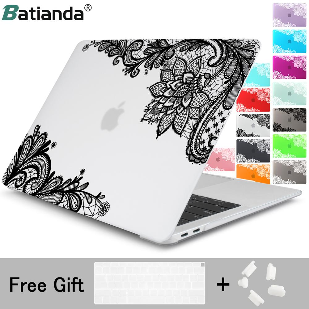 Fashion Lace Pattern Matte Cover Case Sleeve For MacBook Pro 13 15 A2159 Retina 12 New Mac Book Air 13 2019 2018 Special Gift