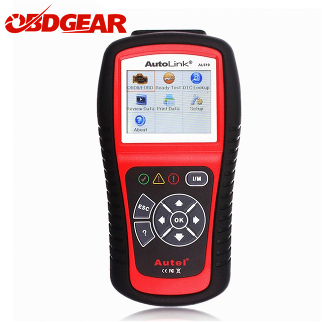 Flash Promo  Autel AutoLink AL519 Auto Scanner OBD2 EOBD Car Code Reader Scanner Automotive Diagnostic Scan Tool Support Multi-Language