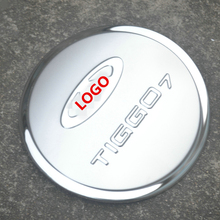 Stainless steel fuel tank cover for TIGGO7 CHERY 2016 17,Free shipping car-styling oil cap trim protective decorat film sticker недорого