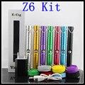 Nueva llegada E Kits de cigarrillos a través de la parte inferior de la carga de cigarrillos electrónicos Z6 Kit ECig 650 mah Kit con cable usb ECig