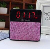 Мини-будильник динамик bluetooth беспроводная стерео цифровые часы, Рабочий стол портативный радио для телефона компьютерной поддержки TF FM час...