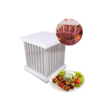 GZZT kebab skewer machine 64 Holes barbecue easy maker MB-1 BBQ Tool Quick Food Slicer Box Meat Skewers Machine