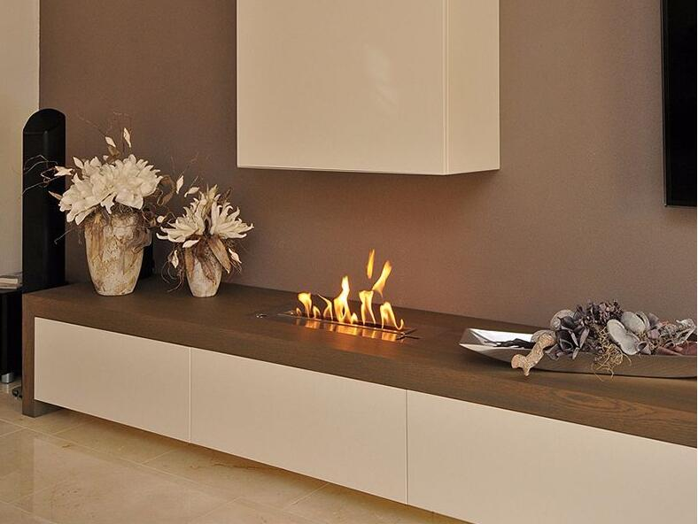 18 Inch Silver Or Black Wifi Real Fire Indoor Intelligent Smart Bio Ethanol Electric Burner