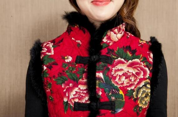 Chaude Coton Femelle Lin Noir Chinois Nouveau Veste Jia3 Style 5xl 2xl Ma3 2019 Col Mode rouge Brodé Printemps bleu Et Bouton 5n1zB0xw